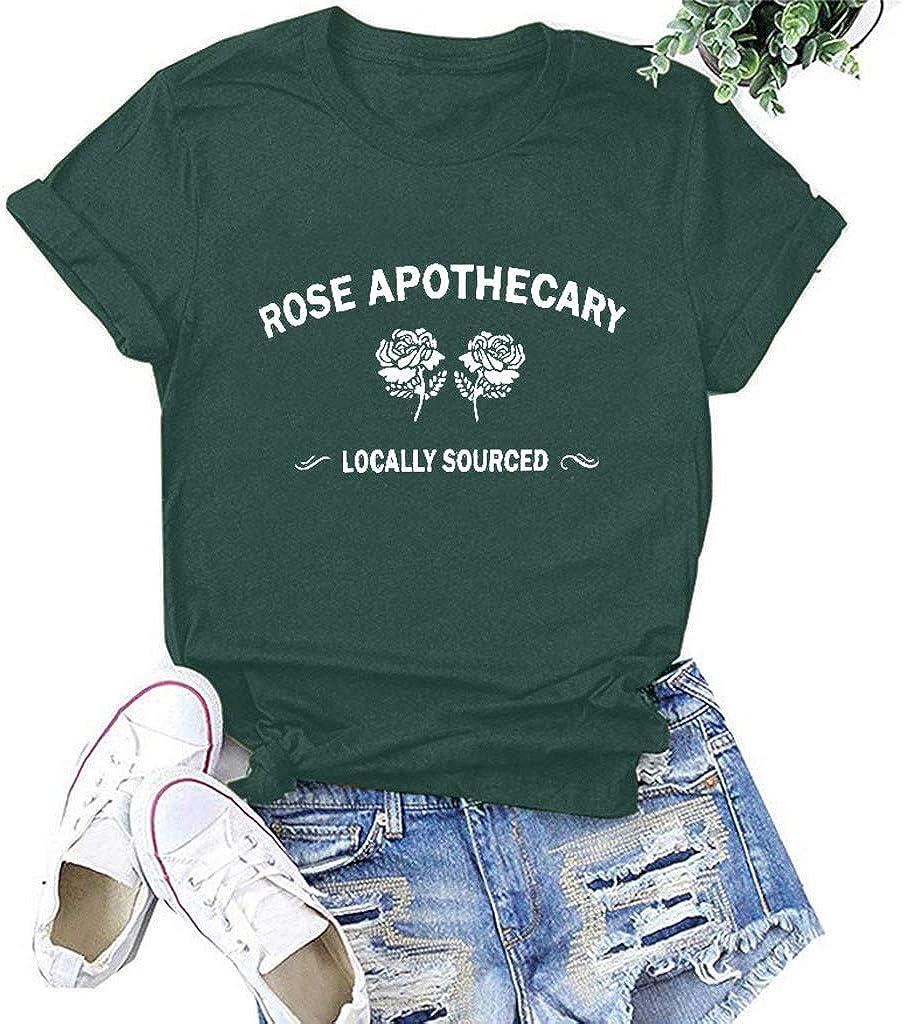 FABIURT Women Short Sleeve Shirts,Womens Valentines Day Graphic Tee Plaid Leopard Love Heart Printed Tshirts Blouse Tops