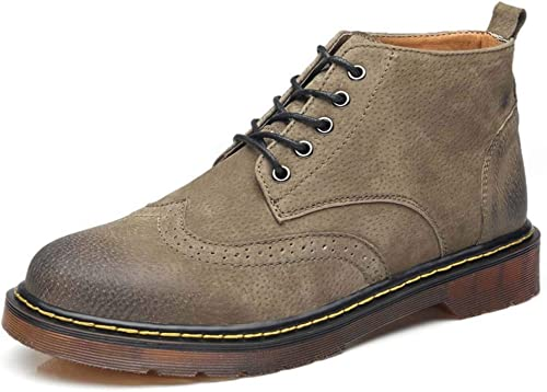 MISS&YG Hommes's High-Top Chaussures Chaussures De Grande Taille Décontracté Cravate Tendance Martin Bottes 38-46  avec 60% de réduction