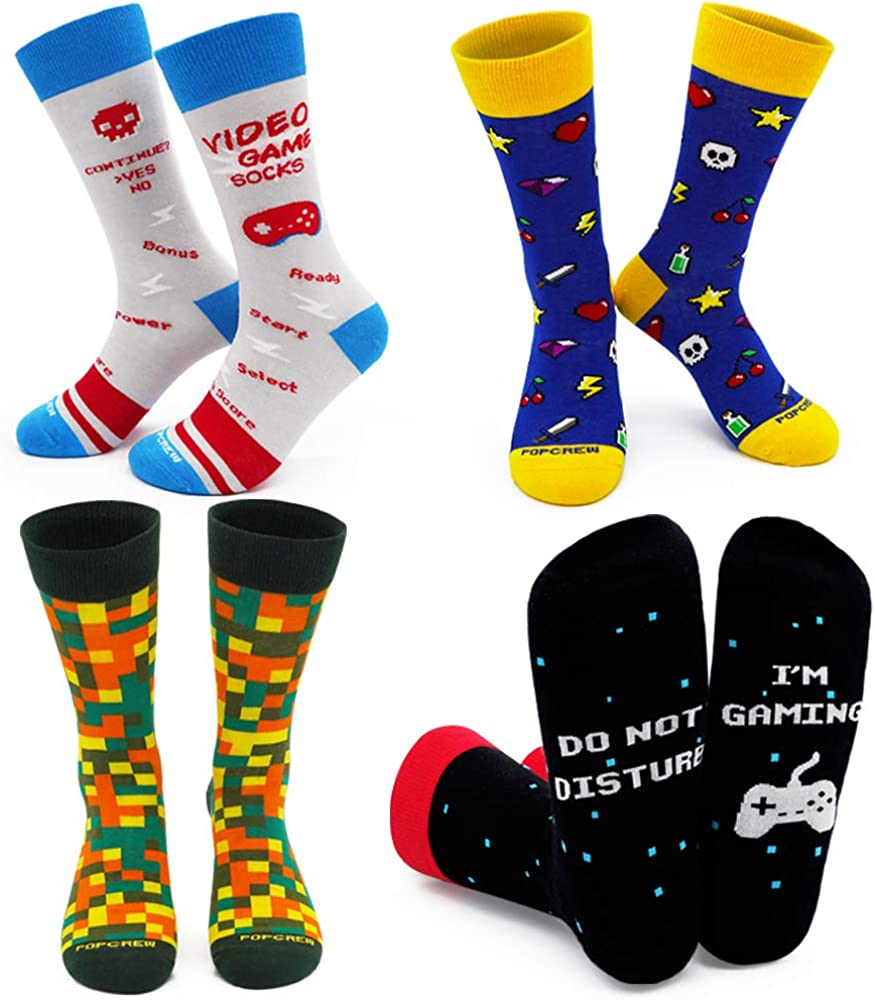 PopCrew Power Our shop most popular Socks Retro Video Game Gam Free shipping on posting reviews Novelty Funny
