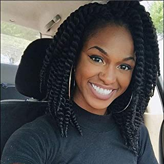 VRUnique Crochet Hair Havana Mambo Twist Crochet Hair Braids Mambo Twist Big Senegalese Crochet Twist Braids Hair for Women 12 Roots/Pack (12 Inch (6 Count), 1B#)