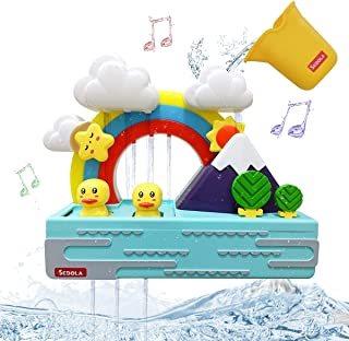 SEDOLA Bath Toys,Educational Bathtub Water Toy with Music and Light,Cute Duck and Rainbow Bathroom Toy,Shower Bath Baby To...