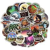 Outdoor Abenteuer Aufkleber, 50 PCS Camping Reise Vinyl Graffiti Sticker Decals Wasserdicht Laptop Aufkleber Teen Kinder Stickerbomb für Telefon Computer Auto Motorrad Fahrrad Gepäck...