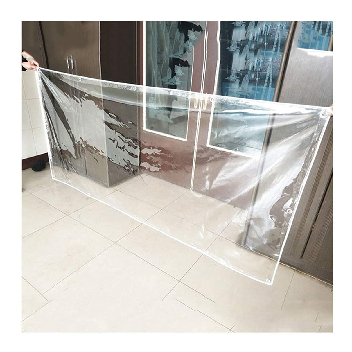 Shade Net/Sunscreen Tarpaulin Waterproof Heavy Duty Outdoor Rainproof Cloth Balcony Cover, Multiple Sizes Available, WenMing Yue, Clear, 2X2.5M