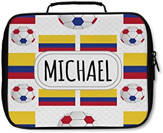 Nylon Insulated Lunch Box Custom Colombia Country Flag Soccer Pattern adults