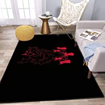 the Incantation Area Rug and Yoga, Movie Carpet for Home Living Room, Large Anti Slip Contemporary Rug for Floor Home Door