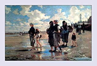 ArtParisienne Oyster Gatherers of Cancale John Singer Sargent 16x24-inch Wall Decal