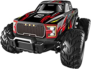 Toysgift Remote Control Off-Road Crawlers Car Truck -2.4 Ghz 4WD High Speed 35 KM/H RC Vehicle Car for Kids Boys (Black)