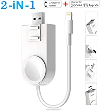 iWatch Charger Compatible with iPhone Charger,2 in 1 Portable Wireless Adjustable Magnetic USB Watch Charger Compatible fo...