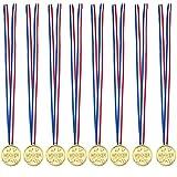 Knowing 24 Stücke Kinder Kunststoff Medaille,Gold Kunststoff Sieger Medaillen Golden Awards,Für Kinder Sporttag, Party Game Toys, Preise Awards