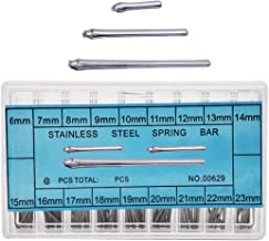 Nice Pies Watch Band Spring Bars 6-23mm Watch Strap Link Pins Watchmaker AssortmentStainless Steel Link Cotter Pins 360Pcs Watchmaker Watch Repair Kit