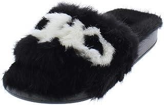 ec35a4da2ddc Salvatore Ferragamo Womens Groove Mink Fur Fashion Slide Slippers