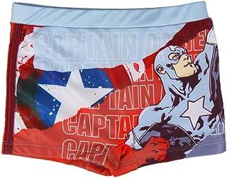 Marvel Avengers Capitan America   Bañador Premium Niños   Calzoncillos   Slip   Pantalones Cortos   Secado Rápido  