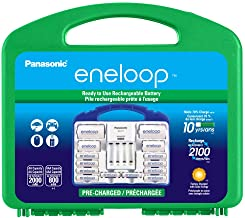 """Panasonic KJ17MCC82A eneloop Power Pack, 8AA, 2AAA, 2 C Adapters, 2 D Adapters, """"Advanced"""" Individual Battery Charger and ..."""