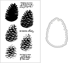 Pine Cone Silicone Clear Stamp with Cutting Dies Stencil Set DIY Scrapbooking Embossing Photo Album Decorative Paper Card Craft Art Handmade