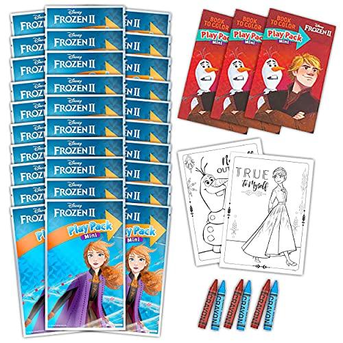 Frozen Activity Set Bulk Frozen Party Favor Bundle - 30 Packs with Frozen Coloring Books, Frozen Stickers, and More (Frozen Classroom Set)