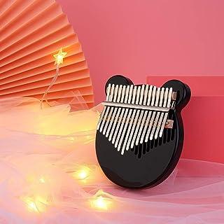 AKDSteel Kalimba 17-Key Acrylic Body Thumb Piano Black Mbira Instrument Simple Instrument Beginner Instrument