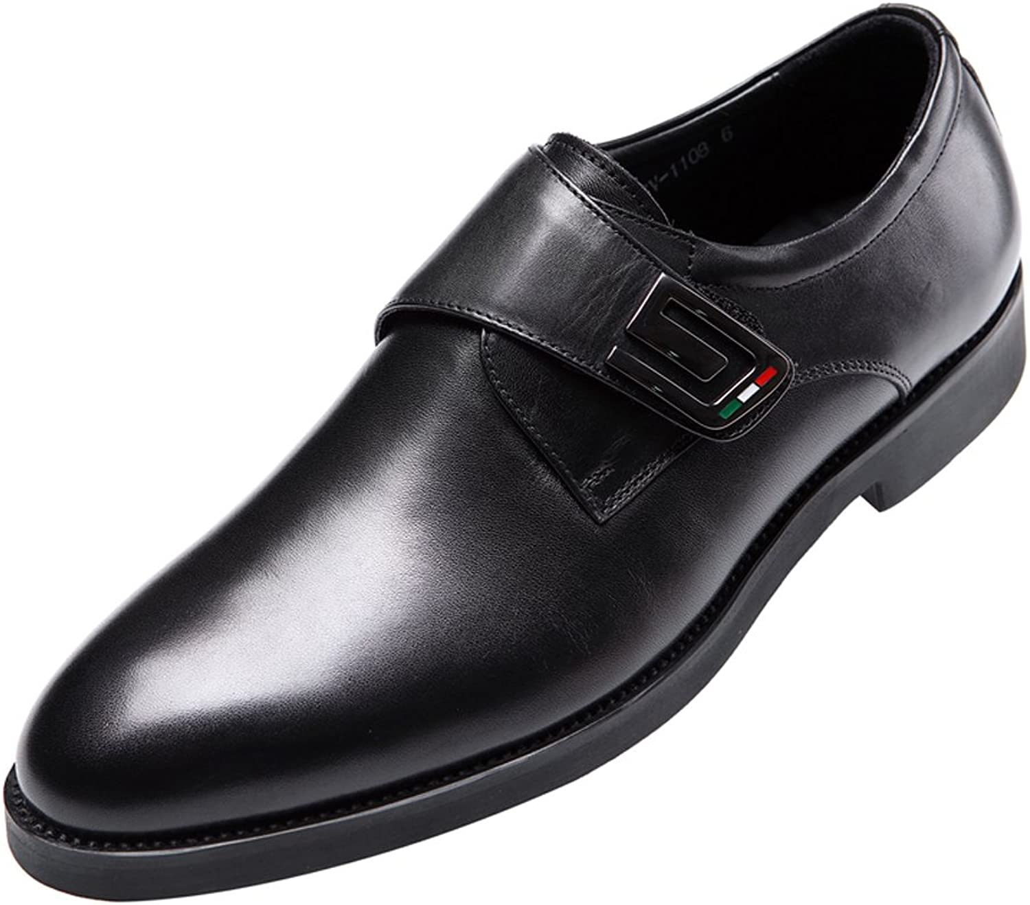 Dilize Men's Monk Strap Casual Slip on Leather shoes