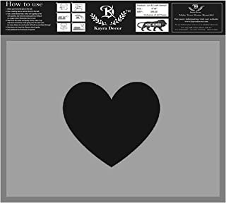 Kayra Decor Reusable Polyester Plastic Heart Shape Painting Stencils for Art and Craft, Walls, Floor, Tiles, Furniture, Pa...