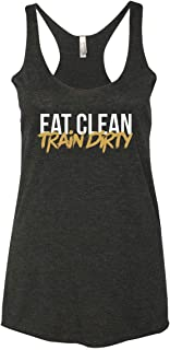 Women's Funny Workout Tank Top | Eat Clean Train Dirty