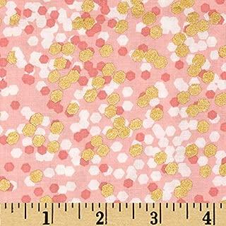 Michael Miller 0348835 Brambleberry Ridge Shimmer Reflection Peach Metallic Fabric by the Yard