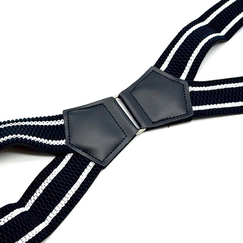 Wide Suspenders Men Patchwork Leather Mens Trouser Belt X Back Braces Straps 4 Clips Suspender Male 4Cmx120Cm