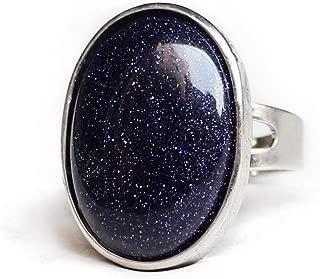 Gemsfly Natural Rose Quartz Agate Amethyst Turquoise Opal Stone Midi Finger Anniversary Rings
