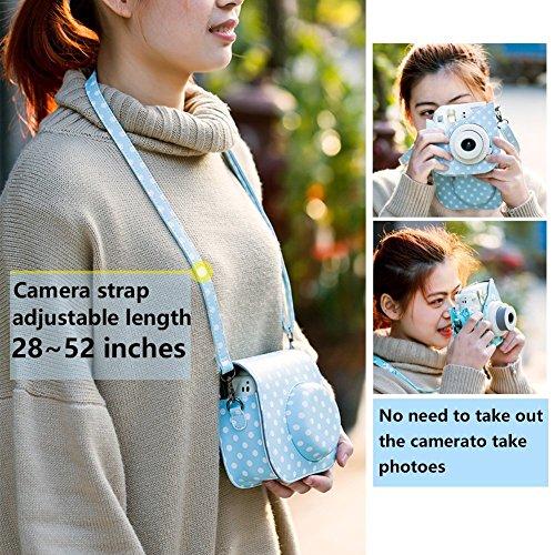 Katia Kamera Zubehör Set Kompatibel mit Fujifilm Polaroid Instax Mini 9/8/8 + Sofortbildkamera, beinhaltet Tasche/Fotoalbum/Selfielinse/Filters/Filmrahmen/Aufkleber und mehr. – Galaxy