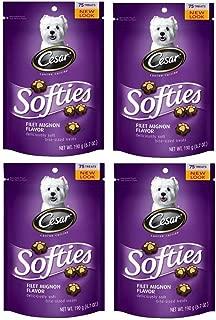 Cesar Softies Filet Mignon Flavor Dog Treats (Pack Of Four 6.7-Ounce Pouches)
