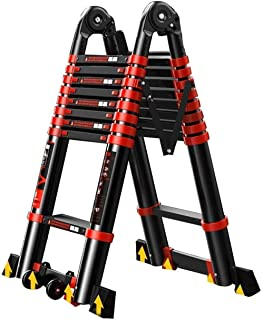 Extension Ladder Multi-Function Folding Ladder Telescopic Ladder Aluminum Telescopic Ladder for Outdoor 4.9m Uptodate