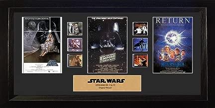 Filmcells Star Wars: Ep IV, V, VI Mixed Trilogy Framed Art