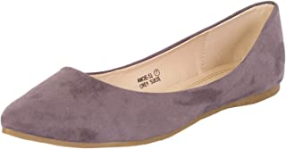 Bella Marie Angie Women's Pointy Toe Slip On Classic Ballet Flats