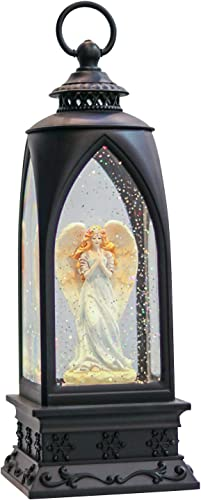 """discount Eldnacele 12"""" Christmas Snow Globe Lantern Angel with Music & Timer, USB Lined/Battery Operated Lighted Water Glittering 2021 Nativity sale Lantern for Christmas Festival Centerpiece Decoration Gifts – Angel online sale"""