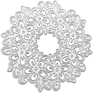 Lace Crown Metal Cutting Dies for Card Making, Staron Christmas Metal Die Cutting Dies Stencil for DIY Scrapbooking Die-Cuts Embossing Album Flower Heart Paper Card Craft (A)