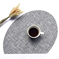 5ピースEP-PVC織りプレースマットスタイリッシュで不規則に設計された断熱プレースマットクリエイティブなホームダイニングテーブルキッチン滑り止め断熱材ウエスタンプレースマット (Color : Gray*5)