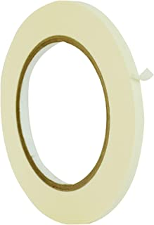 WOD MTC5 General Purpose White Masking Tape, 1/2 inch X 60 yds. - for Fun DIY Arts & Crafts, Labeling, Writable & Decorations (Available in Multiple Sizes & Colors)