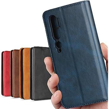 Xiaomi Mi Note 10 ケース/Mi CC9 Pro 通用 ケース MI ノート10 カバー XIAOMI MI ノート 10 スマホケース case 高質合成皮革 内蔵マグネット 携帯カバー カード入れ スタンド機能 落ち着いた色 レトロ ネイビー