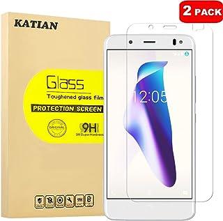[2 Pack] BQ Aquaris VS Plus Protector de Pantalla, KATIAN 9H Dureza [Alta Definicion] [Fácil de Instalar] Cristal Vidrio Templado Film para BQ Aquaris VS Plus