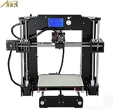 Anet A6 3D Printer with Filament, High Precision Self Assembly Big Size 220 x 220mm Heatbed, 12864 LCD Display Screen, Acrylic Frame DIY Desktop Reprap i3 3D Printer