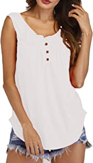 Romanstii Women Flowy Tank Tops Long - Backless Sexy Tunic Tops Stretch A-Line Loose Sleeveless Shirts Lace Trim
