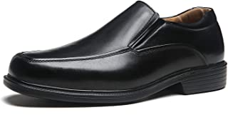Wide Width Men's Leather Dress Shoes Slip On Square Toe Loafer Shoes Mens Comfortable Business Extra Wide Shoes EEE