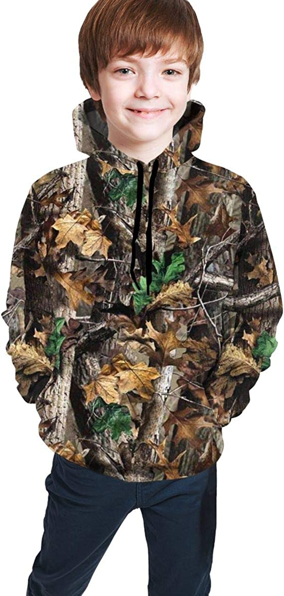 5 ☆ popular CLERO Kids Hoodies Camo Leaves Forest Sweatshi Over item handling ☆ Camouflage Youth