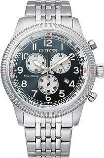 Citizen Reloj Analógico para Hombre de con Correa en Acero Inoxidable AT2460-89L