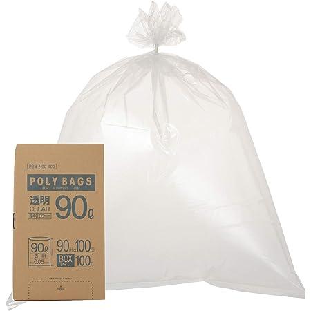 オルディ ごみ袋 90L 透明 厚手 透明 横90×縦100cm 厚み0.05mm 業務用 ポリ袋 ポリバッグビジネス PBB-N90-100 100枚入