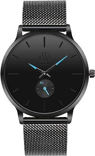 SIBOSUN Mens Watch, Ultra Thin Wrist Watches for Men, Fashion Waterproof Watch, Dress Stainless Steel Band