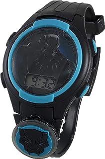 "Marvel Avengers Black Panther Kid's""Wakanda Forever"" Reloj digital con luz"