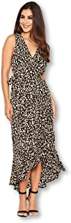 AX Paris Women's Black Leopard Print Maxi Dress