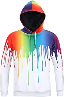 Men's Unisex Novelty 3D Printed Pullover Hoodies Sweatshirt with Pockets