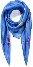 Invisible World Women`s 100% Silk Scarf Hand Painted Square Dragonfly