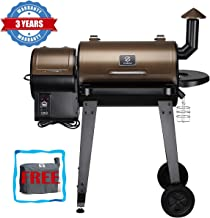 Z GRILLS Wood Pellet Grill and Smoker Ourdoor with Update Pid Controller 8-in-1 Outdoor Smoker(Cover Included)