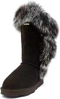 K.Signature Womens Grace Short Sheepskin Winter Boots
